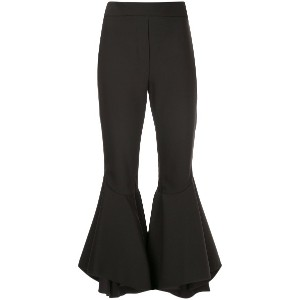 Ellery full flare cropped trousers - ブラック