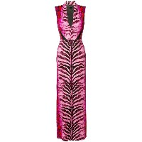 Just Cavalli animal print evening gown - ピンク&パープル