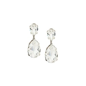 Susan Caplan Vintage 1980s Vintage Kenneth Jay Lane Crystal Earrings -