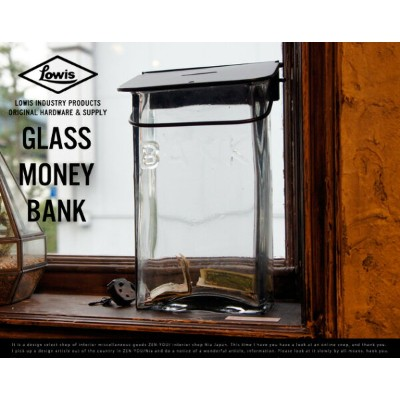 GLASS MONEY BANK / ガラス マネーバンク Lowis Industry ルイス インダストリー 貯金箱 バンク MOENYBANK ガラス製 DETAIL CANDY DESIGN...