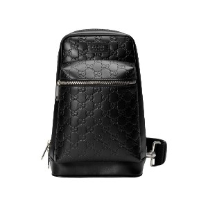 Gucci Gucci Signature leather backpack - ブラック