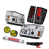 ヘッドライト For 2004-2015 Titan 4X4 Clear CCFL Halo Headlight Tail Light Yellow Fog Roof LED 2004年...
