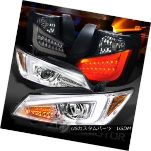 ヘッドライト 11-13 Scion tC Clear LED Signal Projector Headlights+Glossy Black LED Tail Lamps 11-13 Scion...