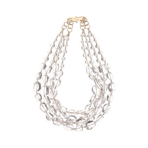 【Theory】Kong qi Clear Stone Necklace デコルテに涼しげなアクセントを添える四連ネックレス。 その他 大人 セオリー