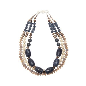 【Theory】Kong qi Color Stone Necklace ボリュームのあるブルーストーンが印象的な三連ネックレス。 その他 大人 セオリー