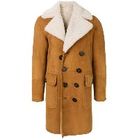 Dsquared2 shearling double-breasted coat - ブラウン
