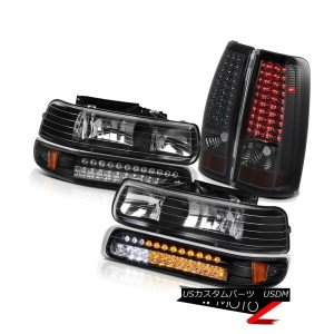 ヘッドライト CHEVY Silverado Standard Extended Crew BRIGHT LED] Smoke Tail Headlight Lamp SET CHEVYシルバラードス...