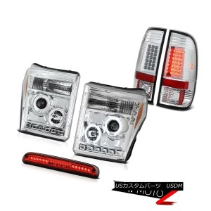 ヘッドライト 11 12 13 14 15 16 F250 6.2L High Stop Light Sterling Chrome Taillamps Headlamps 11 12 13 14...