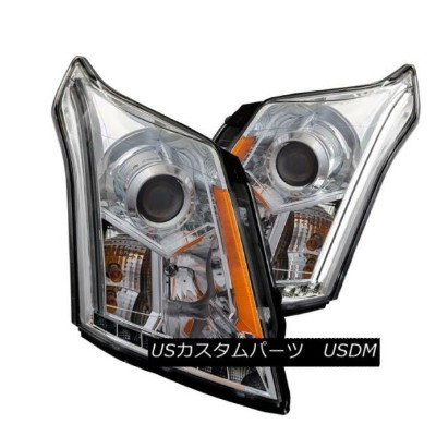 ヘッドライト Anzo 111307 Set of 2 Chrome Plank Style Projector Headlights for Cadillac SRX Anzo 111307...