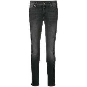 7 For All Mankind washed out skinny jeans - ブラック