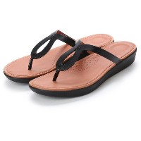 【SALE 40%OFF】フィットフロップ fitflop STRATA TOE-THONG SANDALS - LEATHER (Black) レディース