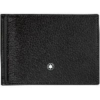 メンズ MONTBLANC Meisterstuck soft grain wallet 6cc with monew clip small 財布  ブラック
