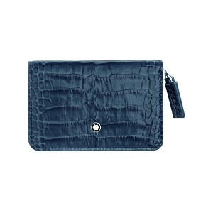 レディース MONTBLANC Meisterstück Selection Coin Case with Zip Indigo 小銭入れ ブルー