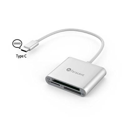 USB C to CFカードリーダー、faracent - C toコンパクトフラッシュカードリーダー、3 in 1 USB 3.1 (互換Thunderbolt 3 ) 5 GbpsのCF /...