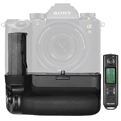 Neewer VGC3EM用のNW-A9垂直バッテリーグリップの交換品、2.4GHzリモコン付き、Sony A9 A7RIIIに適用(バッテリーなし)