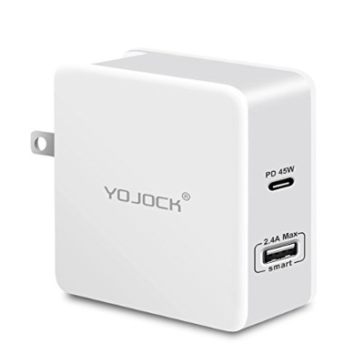 YOJOCK 57W USB C PD 充電器 45W USB Power Delivery 3.0 QC3.0 Type-C 急速充電 + 2.4A 2ポート PSE認証 USB充電器...