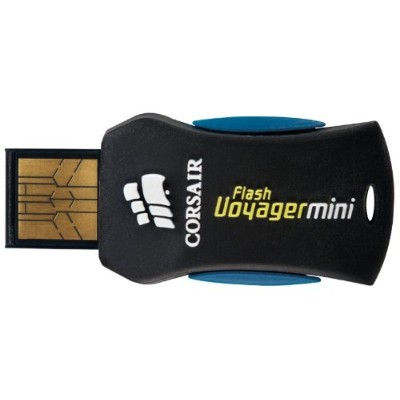 CORSAIR USB 2.0 16GB Ultra Compact Compatible with Windows and Mac Formats Plug and Play CMFUSBMINI...