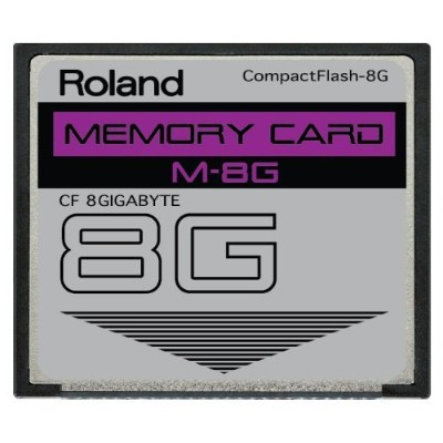 8 GB Roland m-8gコンパクトフラッシュCFメモリカードfor v-synth、Fantom x6、x7 and More