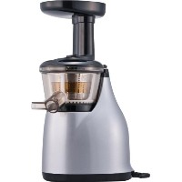 HUROM SLOW JUICER 【酵素で元気! 世界初LSTS方式(低速圧縮搾り)】スロージューサー シルバー HU-300S
