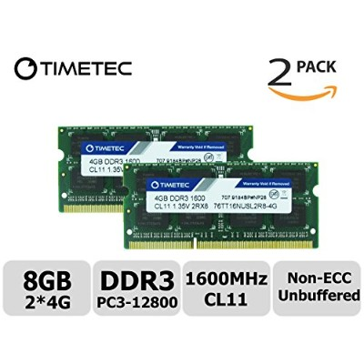 Timetec Hynix IC 8GB キット (2x4GB) DDR3L 1600 MHz PC3L 12800 NonECC Unbuffered 1.35 v CL11 2Rx8 デュアル...