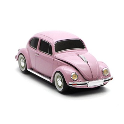 [Cassette Car Products] Classic Beetle Wireless Mouse クラシックビートル ワイヤレスマウス (ピンク)