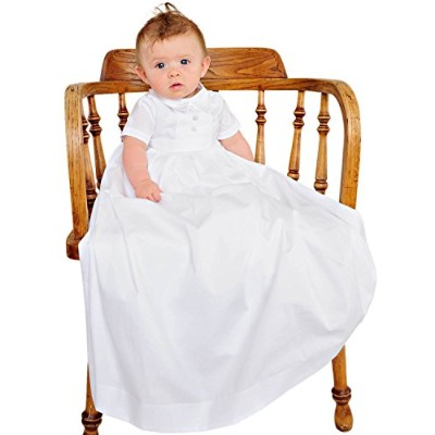 Caleb Christening or Baptism Gowns for Boys, Made in USA by One Small Child