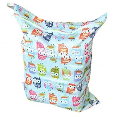 Firetea Printing Baby Cloth Diaper Laundry Wet and Dry Bags, Blue Owl by Firetea