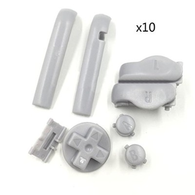 Zhuhaitf ゲーム アクセサリーキット Bumper Shoulder R L A B D-Pad Buttons Attachments Kits for Nintend Game Boy...
