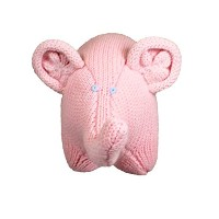 Zubels 100 % hand-knit Eleanor the Elephant Rattleおもちゃすべて天然繊維