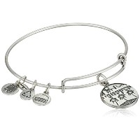 """Alex and Ani """" Places We Love """"ロシアMiami II Expandable Wire Bangle Bracelet , 7.25"""" One Size"""