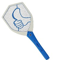 【LEDライト付】 電撃 殺虫ラケット 蚊取りラケット Mosquito Swatter モスバスター (MOSQUITO BUSTER) (青) [並行輸入品]