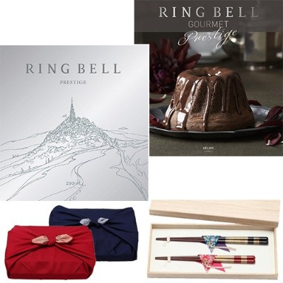CONCENT リンベル RING BELL カタログギフト ゾディアック&ヘリオス+箸二膳(桜草) ※風呂敷:赤色
