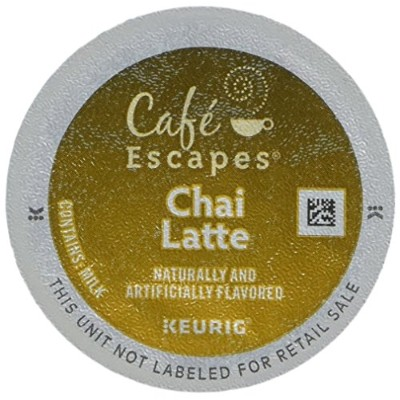 Cafe Escapes * CHAI LATTE * 48 K-Cups for Keurig Brewers by Cafテδゥ Escapes