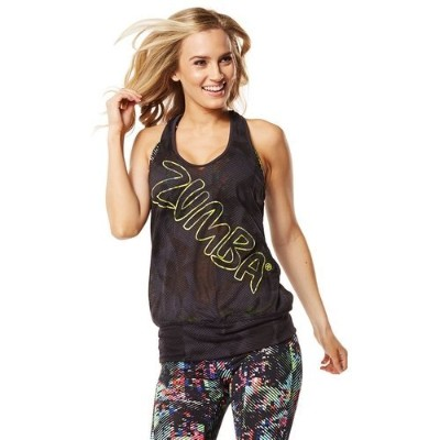 Zumba (ズンバ) Get Hyped Up Bubble Tank Black (M/L) [並行輸入品]