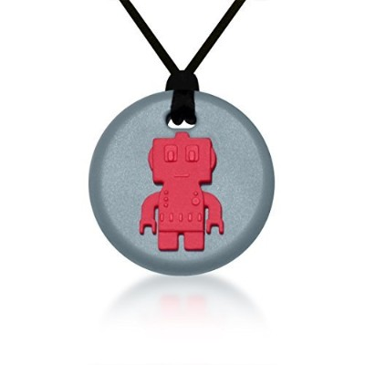 SiliconiesロボットPendant – Silicone Necklace ( Teething / Sensory ) ( Red )