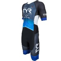 TYR(ティア) SHORT SLEEVE SPEED TRI-SUIT W/FRONT ZIPPER SMLG2-18S BL L