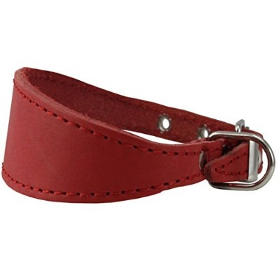 Red Real Leather Tapered Dog Collar 1,5 Wide, Fits 8.5-10.5 Neck, Small, Dachshund by Dogs My Love