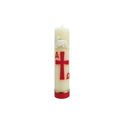 Easter Candle Paschal candle Cirio Pascual Alpha Omega Relieve