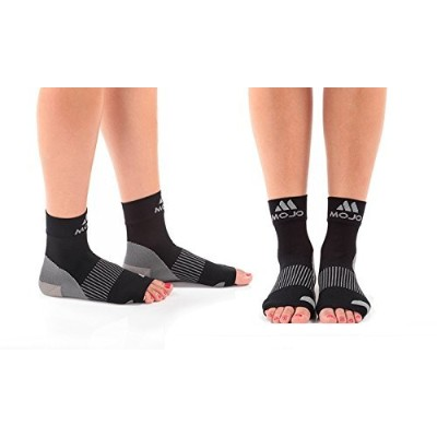 Mojo Compression Plantar Fasciitis Foot Sleeves - XFirm Graduated Support by Mojo Compression socks