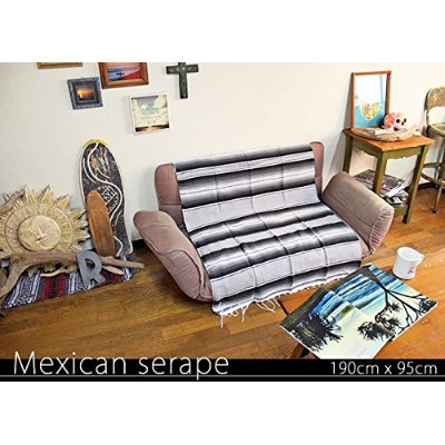 RUG&PIECE Mexican Serape made in mexcico ネイティブ メキシカン サラペ メキシコ製 190cm×95cm (rug-6122)