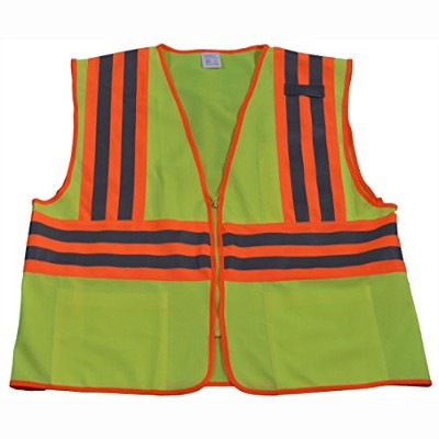 Petra Roc LV2-CB2-S-M Safety Vest Ansi Class Ii Lime Solid Contrast Binding 244; Small & Medium