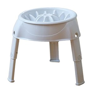 Outward Hound Up Feeder Elevated Slow Feed Prevent Bloat Dog Bowl White