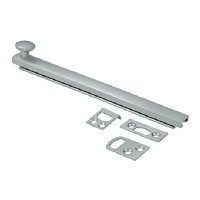 Deltana 6SBCS26D 6 in. Heavy Duty Surface Bolt with Concealed Screw, Satin Chrome - Solid