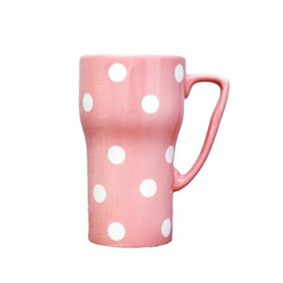 Polka Dots Travel Mug Color: Pink by A.C.K. Trading Co.