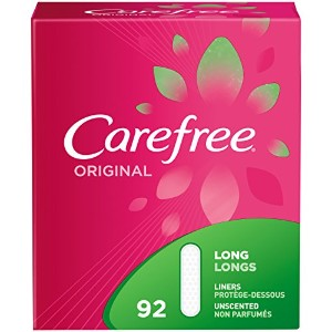 Carefree Original Pantiliners Long Unscented, 92 Count by Carefree