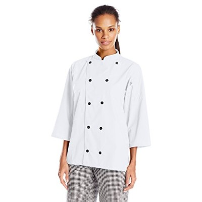 Uncommon Threads 0975-2502 Epic 3/4 Sleeve Chef Shirt in White - Small