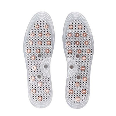 Anti-Odor Acupressure Copper Magnetic Massage Shoe Insoles by Samwoo