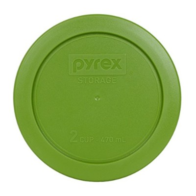 Pyrex 7200-PC Round 2 Cup Storage Lid for Glass Bowls (1, Lawn Green)
