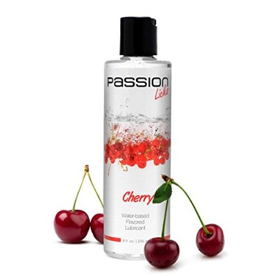 Passion Lubes Passion Licks Cherry Water Based Flavored Lube, 8 Ounce by Passion Lubes