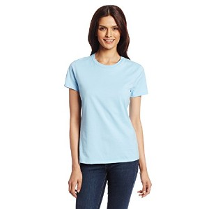 Hanes SL04 Womens Nano-T T-Shirt Size Large, Light Blue